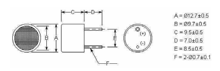 Open Structure Ultrasonic Sensor TA004012T-R_1